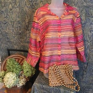 Kim Rogers Blouse 2X Free Handbag With Purchase!